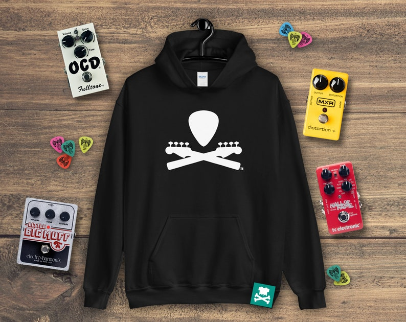 Basic Bass Guitar Crossbones Hoodie image 0