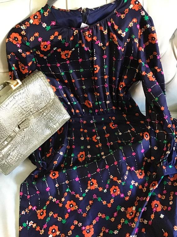 Silk 1970s dress