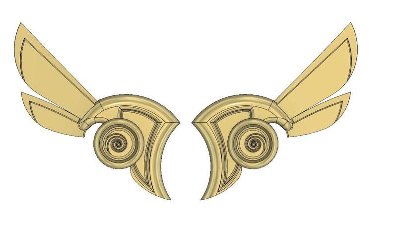 3D MODEL Mercy Winged Victory ear wings
