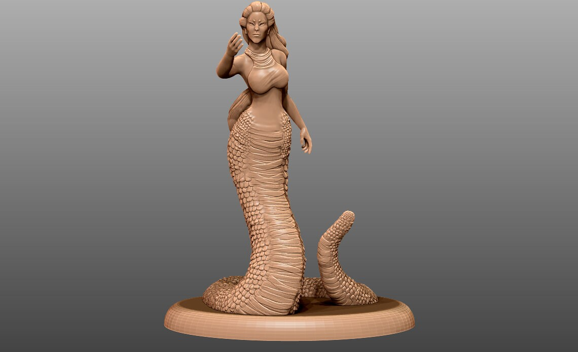little mermaid 3d stl file