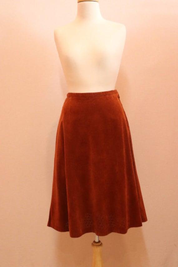 Brown 70s a-line skirt - image 2