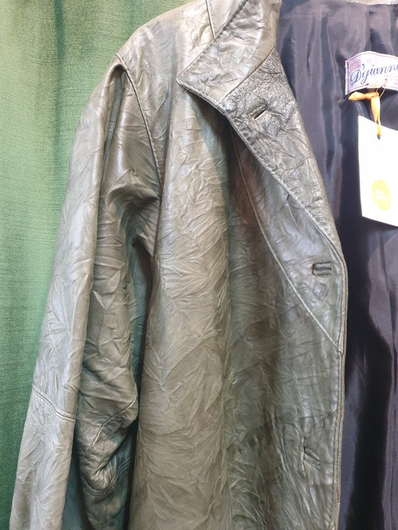 80s green leather jacket - image 8