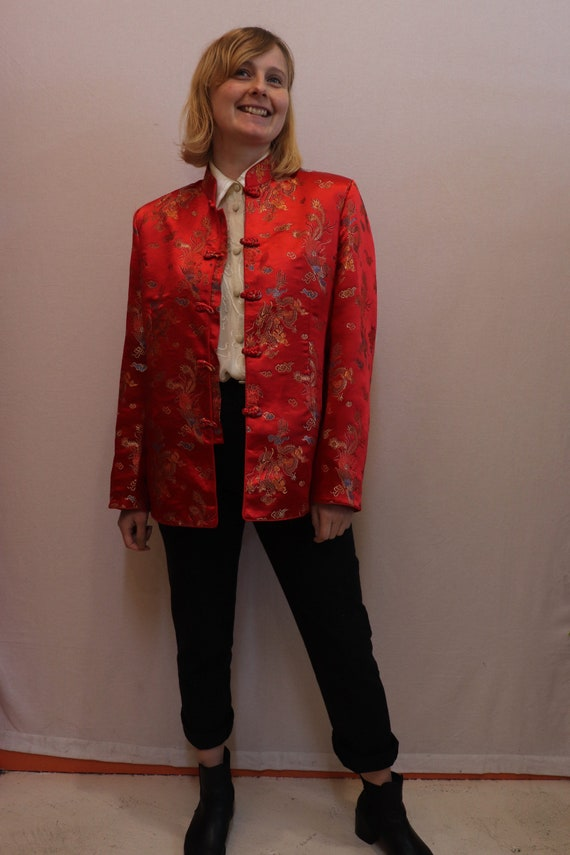 Red Chinese Tang jacket