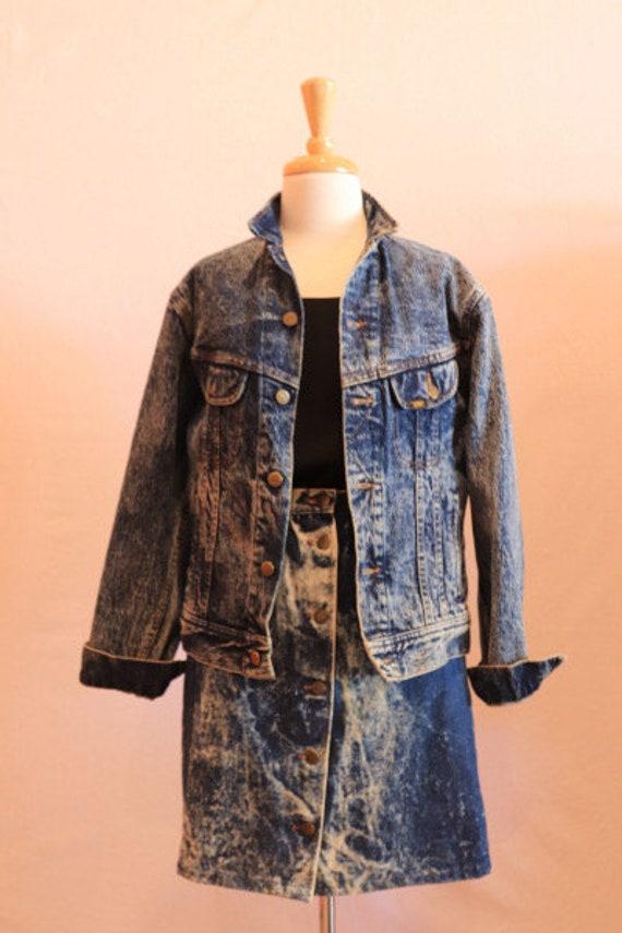 Lee acid wash denim jacket