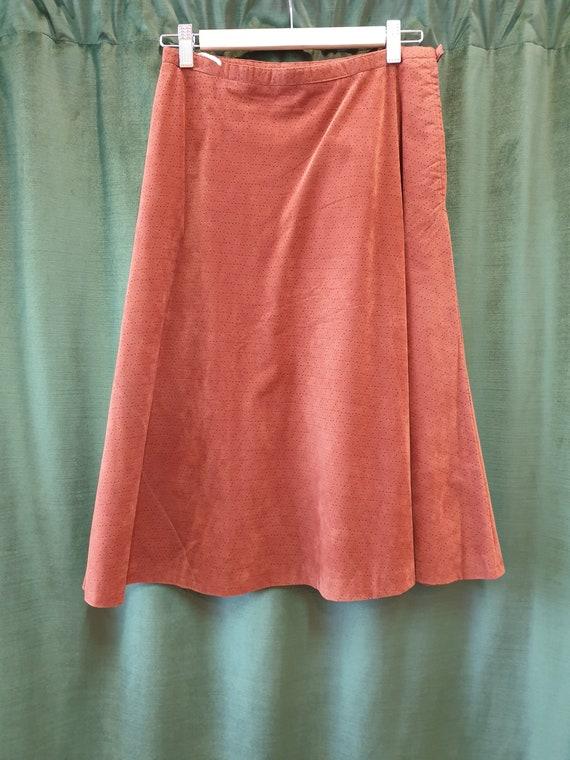 Brown 70s a-line skirt - image 7