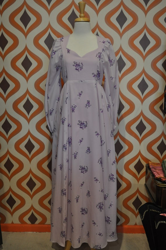 70s handmade lavender maxi dress