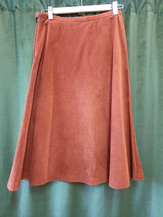 Brown 70s a-line skirt - image 5