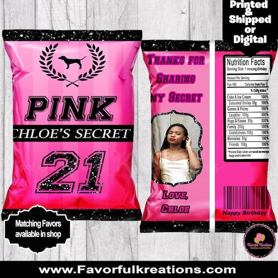 Victoria Secret Chip bags-Victoria Secret Party supplies-custom chip bags-favor bags-Vs Pink Party-PINK Party-sweet16-Bachelorette favors