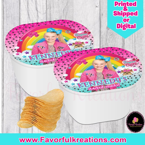 Jojo siwa chips- Jojo siwa snack stack-Jojo siwa Birthday Party- jojo siwa chip bags-SNACK STACK-jojo siwa favors-jojo siwa treats-digital-