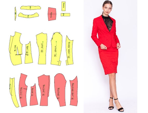 PDF Blazer Pattern size 48 EU Blazer patternWomen blazer sewing patternPDF sewing patterns for women  Plus size pattern Sewing patterns