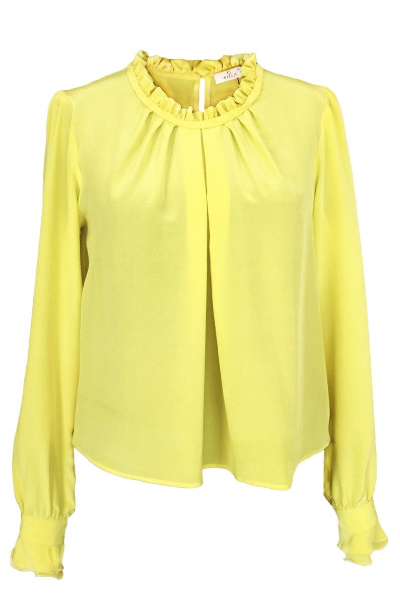 PDF pattern blouse size 50 EU PDF sewing pattern for women Neck Ruffle blouse sewing pattern  Digital downloads Plus size pattern