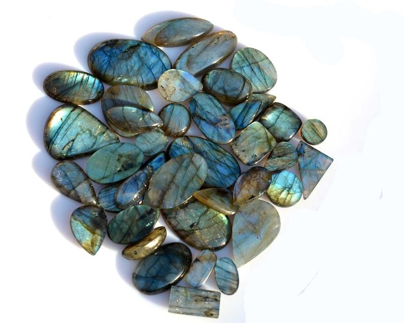 Flashy Labradorite Mix Shape Size Wholesale Natural Loose Gemstone Cabochon Lot for jewelry Supply
