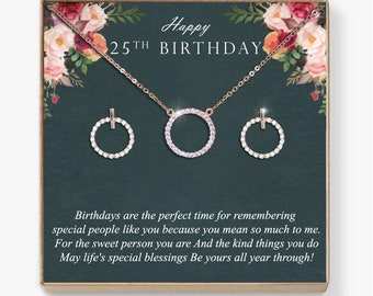 Circle Diamond Cz Necklace Earrings