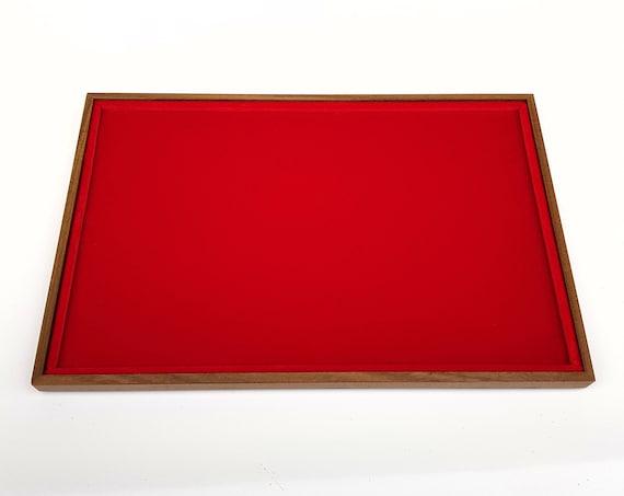 Art. VAG301  Vassoio numismatico per MONETE realizzato in legno e velluto. 1 square 31 x 20 cm. Wood and velvet coin tray cabinet