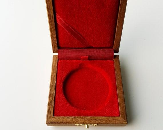 Art.ALP70 Astuccio Cofanetto in Legno per Moneta o Medaglia foro con incavo di mm 22,5/28/31/33/37/41/43/46/50  Coin Box Medal Box Display