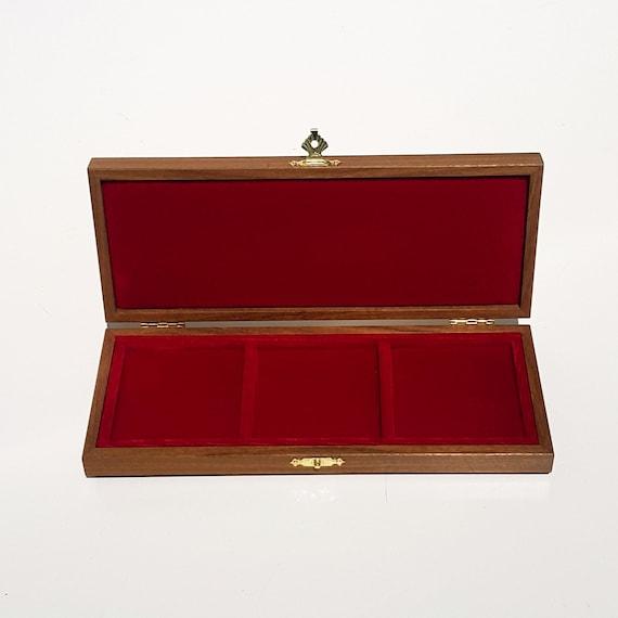 Art ALP60x60x60 Astuccio Cofanetto per 3 Medaglie o Monete fino a 60 mm ZECCHI Wood Medal Box Medal Storage Box Solid Wood  Medal Box