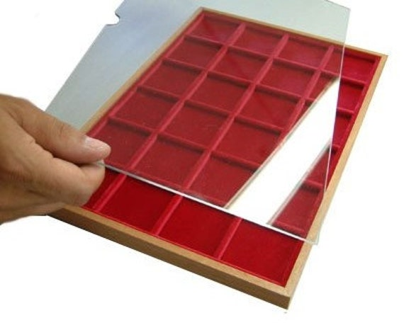 Plg. Plexiglas slab for numismatic trays or pen trays