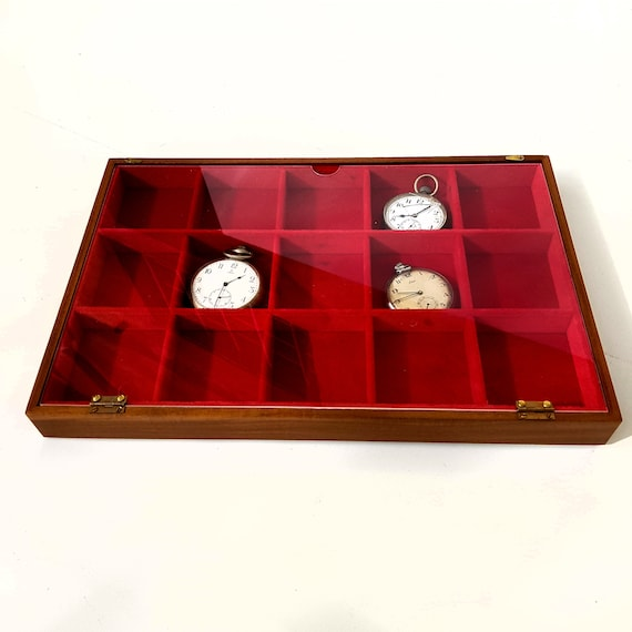 Art. VAGPOT615P Pocket watch tray. Exhibitor and container