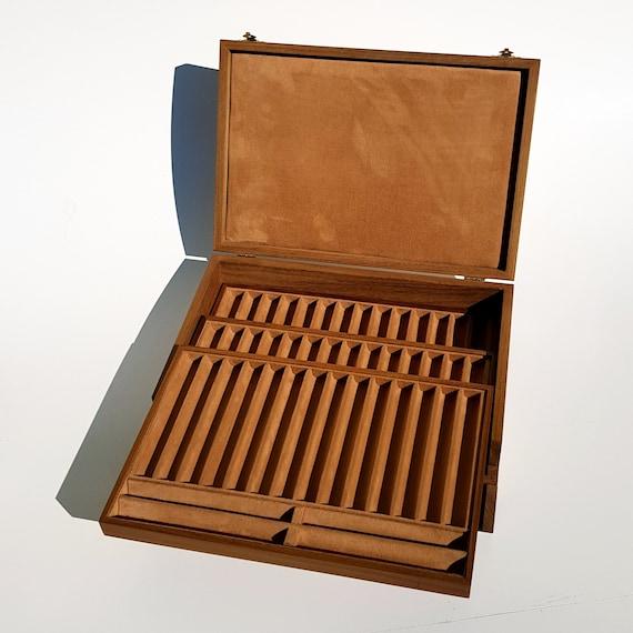 Art. SPPG54 Scatola Portapenne 54 posti costruita in Legno Massello by ZECCHI. Pen Holder Box 54 places in solid Wood