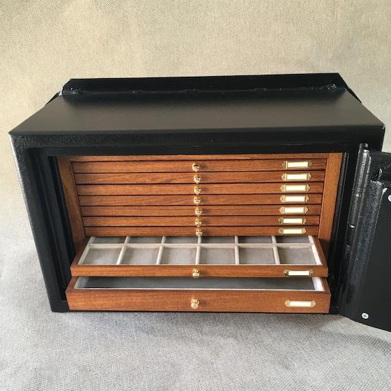 art.CASMU Cassaforte a Muro con Monetiere in Legno su Misura Chiave doppia Mappa  Wall Safe with inside Wooden Coin Cabinet customized