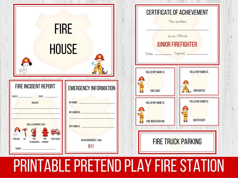 Pretend Firefighter Preschool Curriculum Fire Truck Etsy