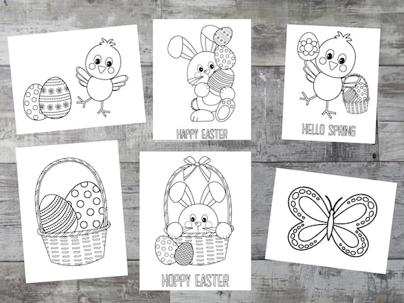 Easter Coloring Book Spring printable party coloring pages