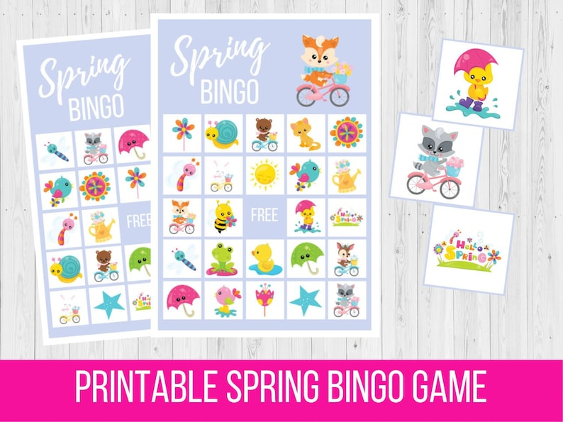 graphic regarding Spring Bingo Game Printable referred to as Spring BINGO, Easter Printable Sport