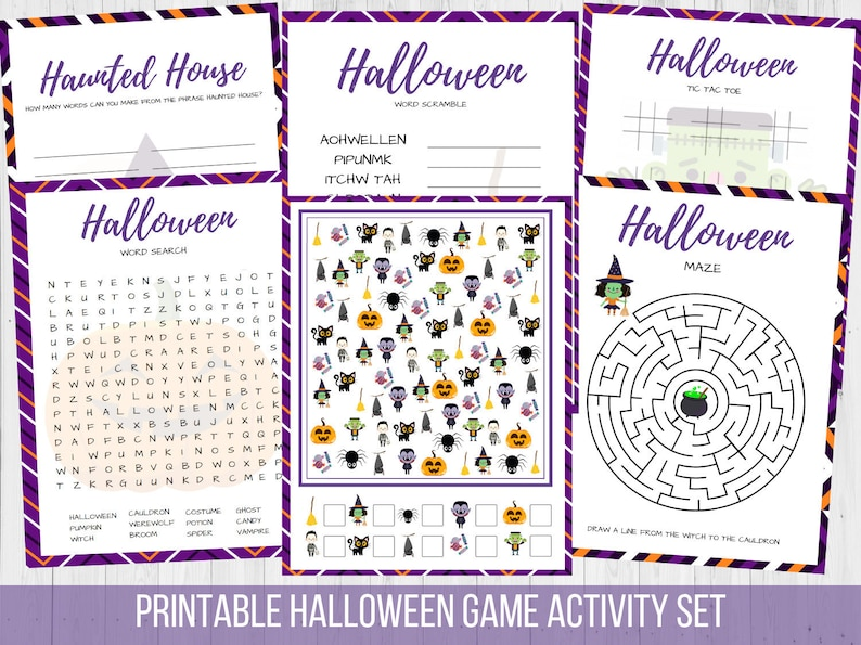 graphic about Halloween Printable Games named Halloween Printable Online games Sport Fastened