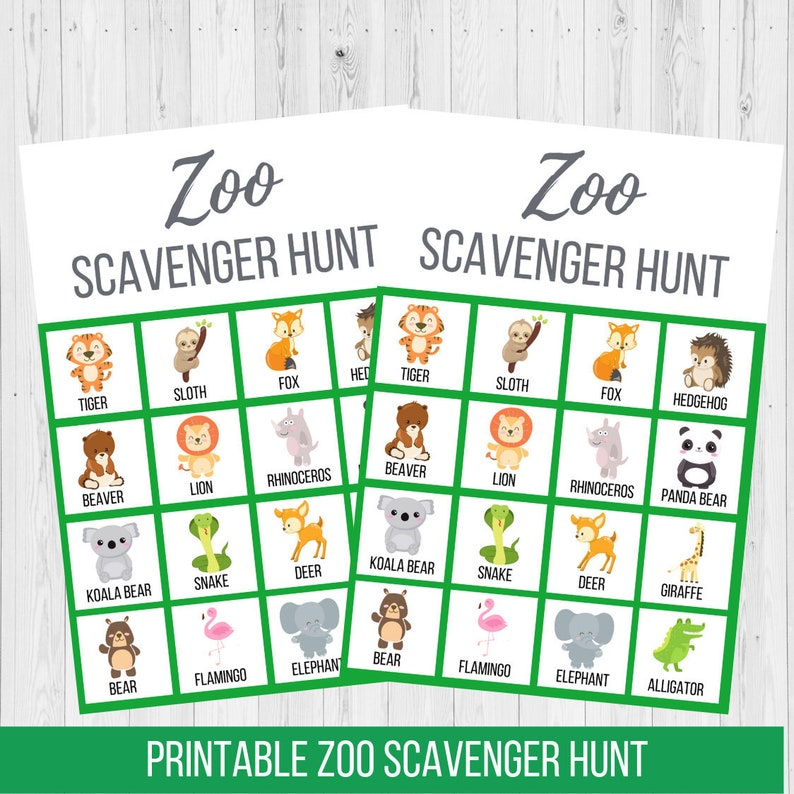 graphic about Zoo Scavenger Hunt Printable named Zoo Scavenger Hunt Printable