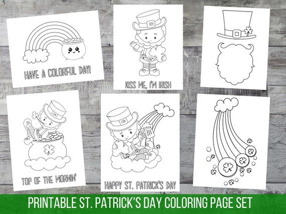 St Patricks Day Coloring Book Spring printable party coloring