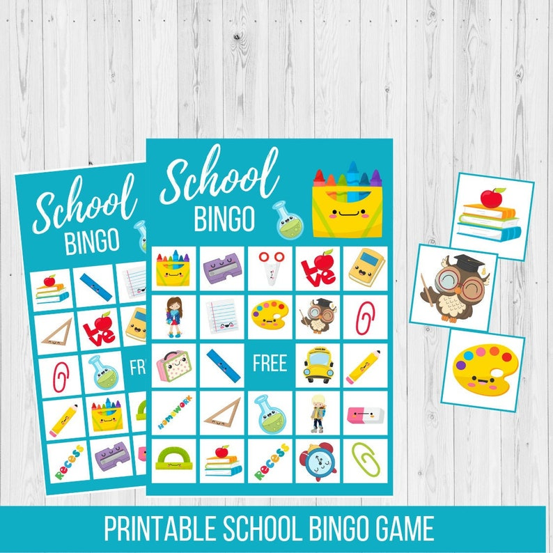 photograph about Back to School Bingo Printable identify College BINGO Printable Match