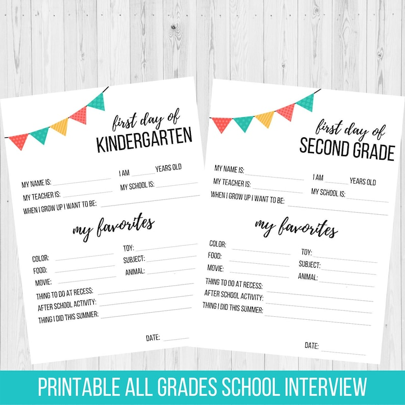 image relating to First Day of School Interview Printable identify Back again towards College Job interview Printable