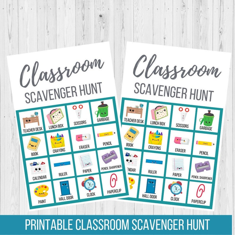 graphic relating to Classroom Scavenger Hunt Printable called Clroom Scavenger Hunt Printable, Again toward College or university