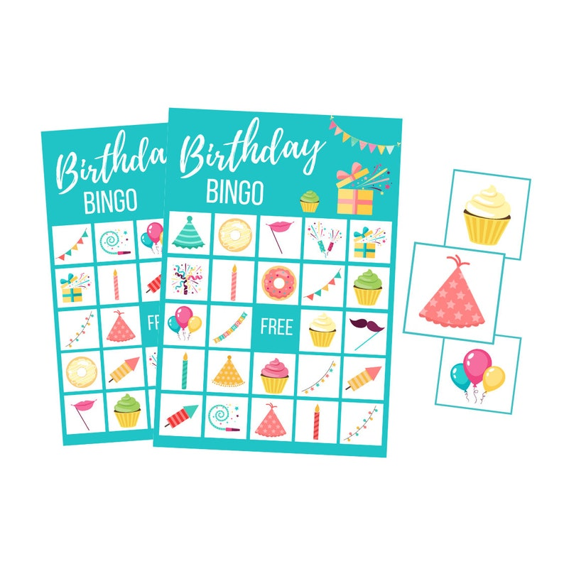 Birthday party BINGO cards first birthday party printable image 0