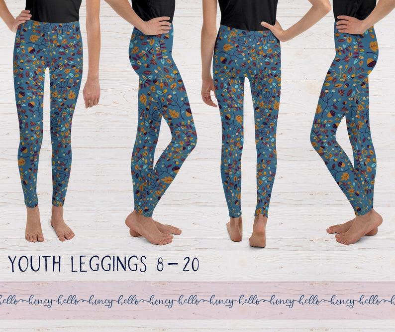 Floral Autumn Yoga Leggings Fall Leaf Leggings Baby Toddler Kid/'s All Over Print Leggings