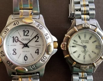 8329c7bf019 Guess  vintage 90s Guess watches. Yes TWO for one price. Buy one get one  free. Cher from Clueless would approve!