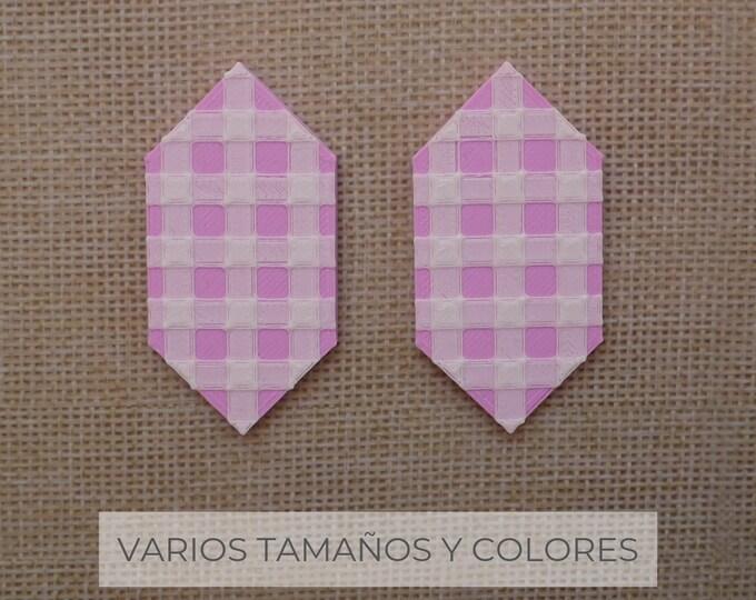 Pendientes Gema Vichy / Varios colores y tamaños / pendiente de plata // SOMOS VÉRTICES