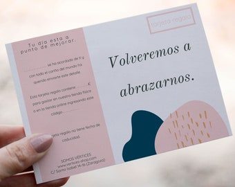 Gift card to send virtual hugs