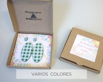 Colección Vichy: Óvalo - Conjunto de pendientes para madres e hijas