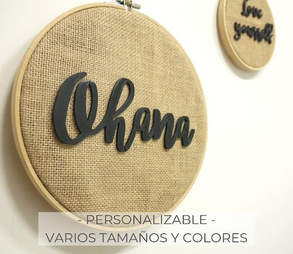 Bastidor con palabras decorativas para colgar - Personalizable