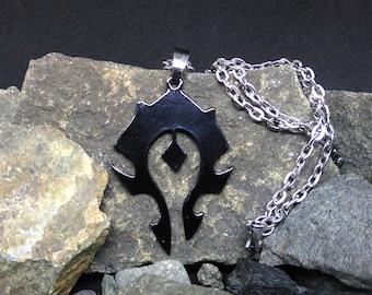 Horde Logo Minimal Black Necklace or Keychain