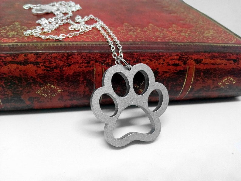 Cute Animal Cat Dog Paw Necklace Pendant Keychain