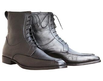Men black boot | Etsy