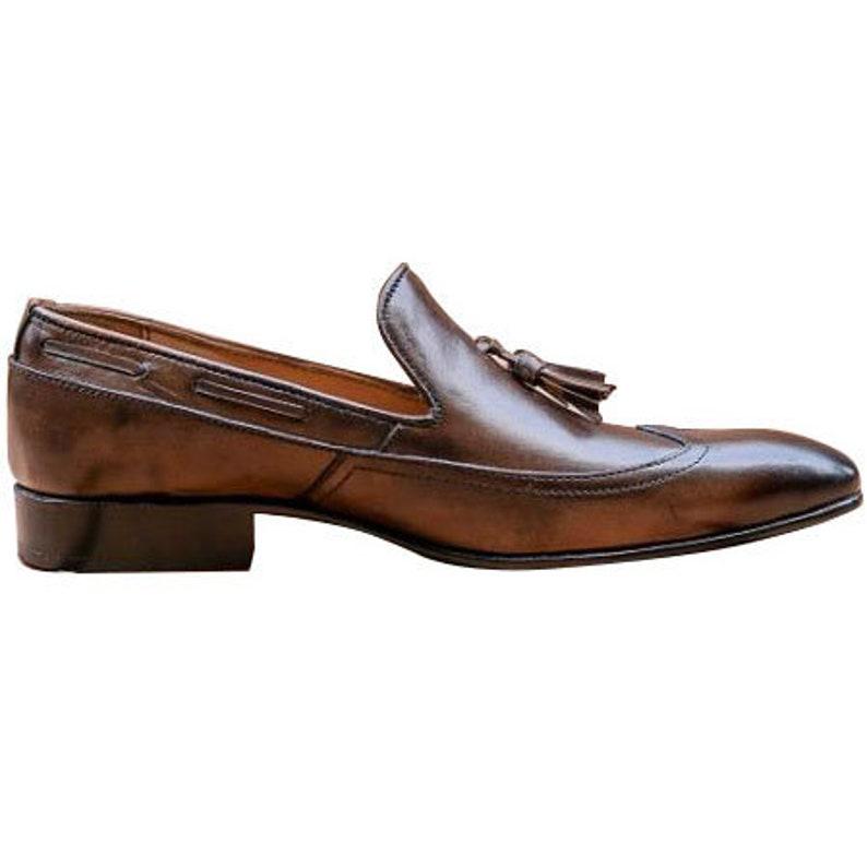 Johny Weber Handmade Leather Dark Brown Loafers