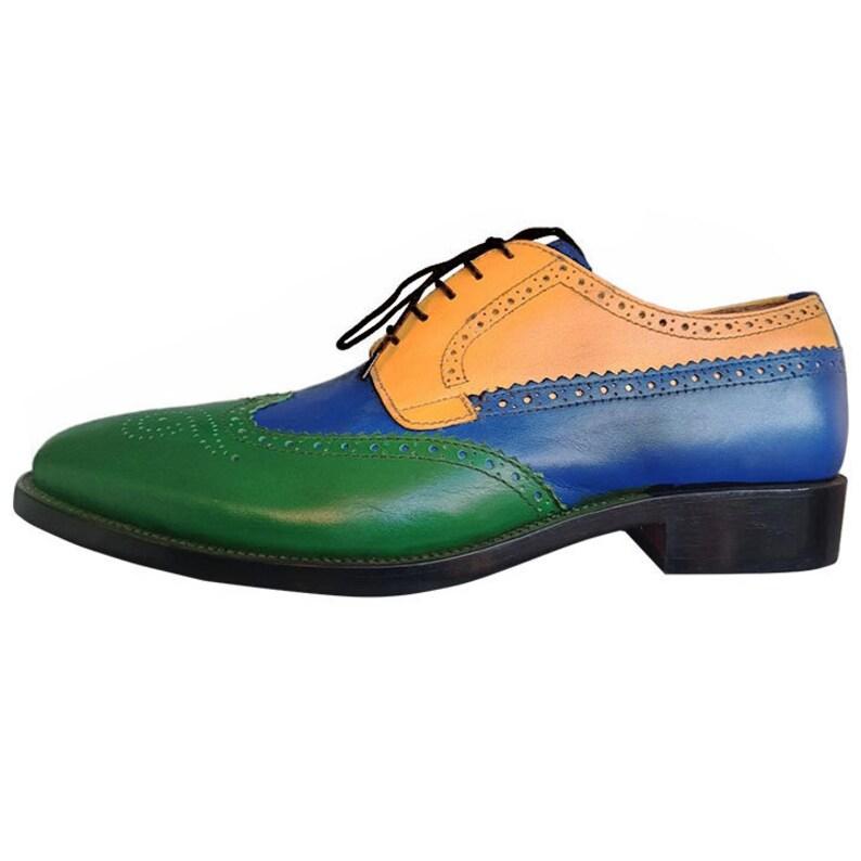 Johny Weber Handmade Tri Colored Oxford Shoes