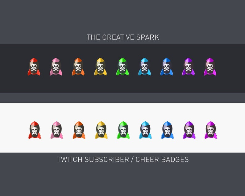 9 Twitch SubCheer Badges Nuke