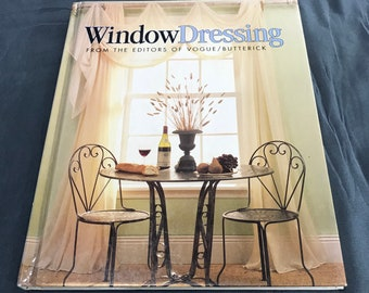 Vintage Window Dressing Vogue Butterick Sewing Book - Vintage Pattern Books -Vogue Window Treatments - Butterick Sewing Home Decorating