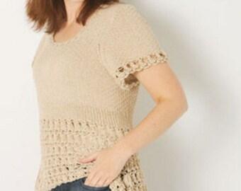 Zitron Savanna Summer Pullover Knitting Pattern