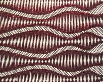 Fancy Wavy Sequin On Mesh Fabric Copperblack DIY Fabric Sewing Materials Costume Fabric Sold By The Yard Stretch