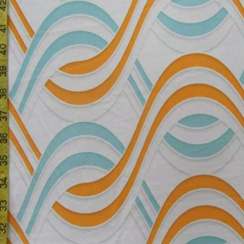 DIY Fabric Sewing Materials Orangelight Blue Costume Fabric Sold By The Yard 4 Way Stretch Synergy Print On Polyester Spandex